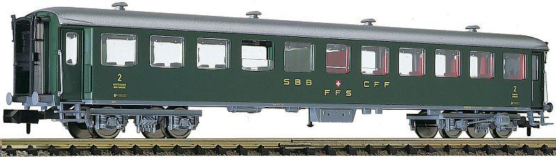 Fleischmann 813908 SBB Schellzugwagen 2. Klasse, schwere Stahlbauart