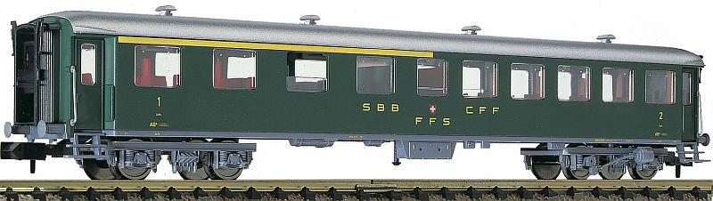 Fleischmann 813804 SBB Schnellzugwagen 1/2. Klasse, schwere Stahlbauart