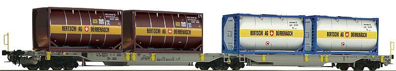 """Fleischmann 825007 Gelen-Taschenwagen der AAE, mit Tankcontainer """"Bertschi AG"""""""
