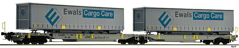 Fleischmann 825008 Gelenk-Taschenwagen der AAE mit Container Ewals-Cargo-Care