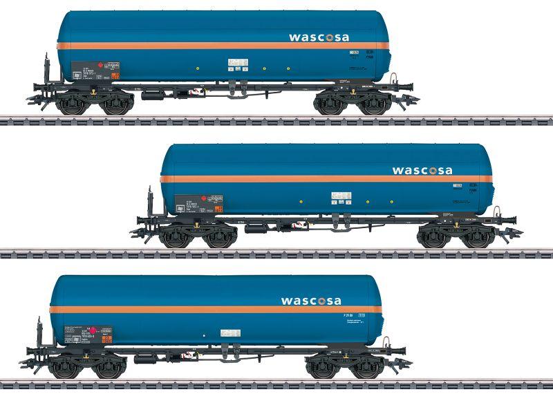 Märklin 48488 3-teiliges Druckgas-Kesselwagenset der Wascosa AG