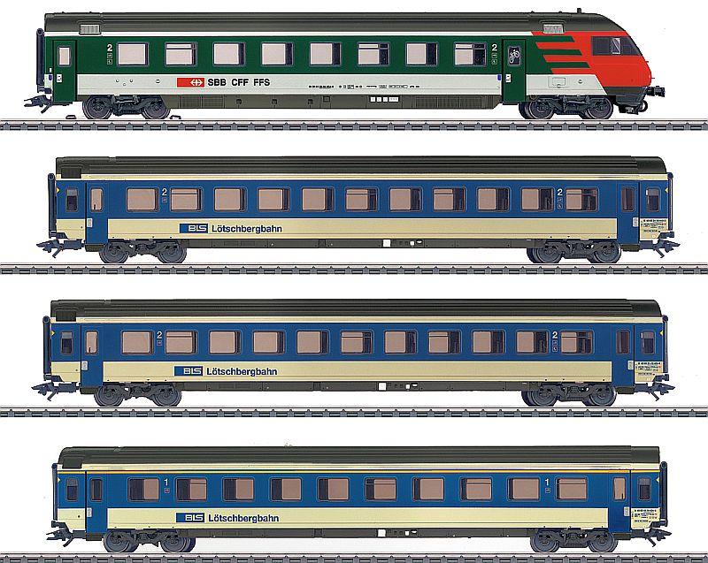Märklin 42175 BLS Schnellzugwagenset EW IV mit SBB Steuerwagen EW IV
