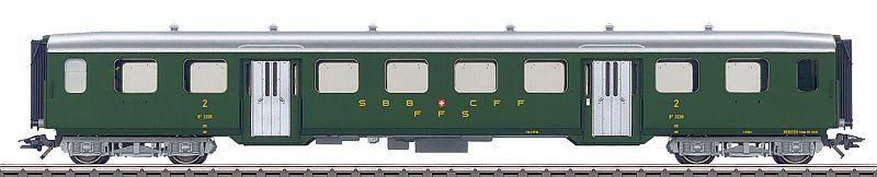 Märklin 43362 SBB Leichtstahl-Personenwagen in 2. Klasse