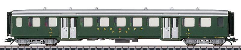 Märklin 43372 SBb Leichtstahl-Personenwagen in 3. Klasse