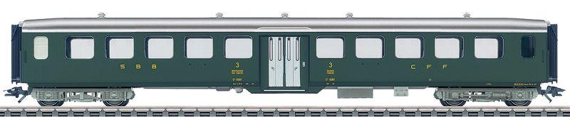 Märklin 433982 SBB Leichtstahl-Personenwagen in 3. Klasse mit Mitteleinstieg