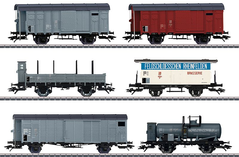 """Märklin 46520 6-teiliges Güterwagen-Set, passend zur """"Köfferli-Lok"""""""