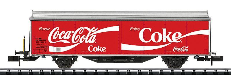 """Minitrix 15223 SBb Schiebewandwagen """"Coca Cola"""""""