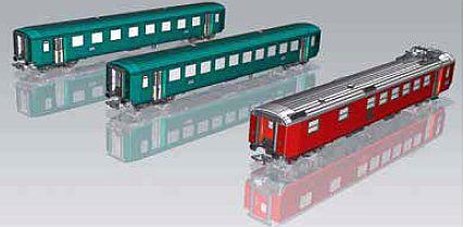 Piko 96783 3-teiliges-SBB_Personenwagen-Set_EW_I_A+B+WR