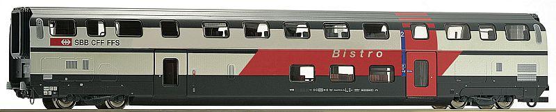 """Roco 74504 SBB Doppelstockwagen Typ IC 2000 """"Bistro"""""""
