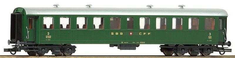 Roco 74528 SBB Peronenwagen schwere Bauart in 3. Klasse