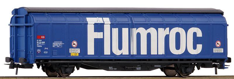 """Roco 76874 SBB Schiebewandwagen Hbbillns mit Aufschrift """"Flumroc"""""""