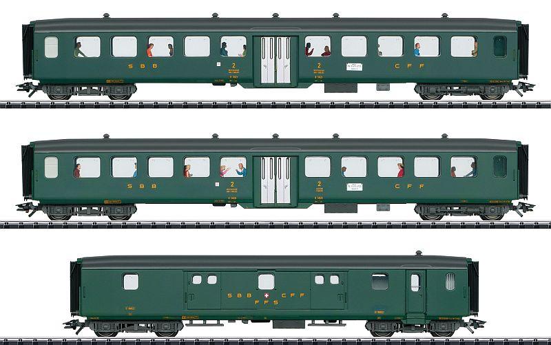 Märklin 43385 SBB Schnellzugwagenset D96 Isar-Rhone